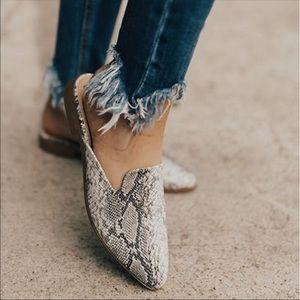 Shoes - Re stocked Animal Snake prints slip on mules